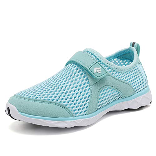 CIOR Boys & Girls Water Shoes Aqua Shoes Swim Shoes Athletic Sneakers Lightweight Sport Shoes(Toddler/Little Kid/Big Kid) U118SSXT001C,Light Blue,24
