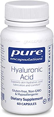 Pure Encapsulations - Hyaluronic Acid - Hypoallergenic Supplement Supports Skin Hydration, Joint Lubrication and Comfort - 60 Capsules