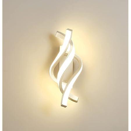 Applique Murale Intérieur LED, 16W Moderne Lampe Murale, Éclairage Acrylique Luminaire Mural 1280LM Blanc Chaud 3000K pour Salon Chambre Hall Escalier