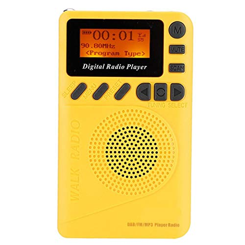 Digital FM Radio DAB + FM Radio Receiver 1000 mah Rechargeable Lithium Battery Digital Pocket Radio with MP3 Function,for Hiking,for Taking The Bus