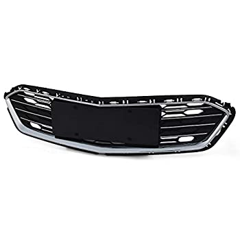 VRracing Honeycomb Front Bumper Grill Lower Grille Replacement for Chevy Cruze 2016 2017 2018 Chrome