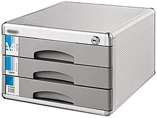 Armadio di archiviazione, file rivista Bloccabile Bloccabile in lega di alluminio DATA STOCCAGGIO Scatola da tavolo da tavolo Desktop Desktop Cassetto Armadio Landslide Traccia Piccola etichetta bianc