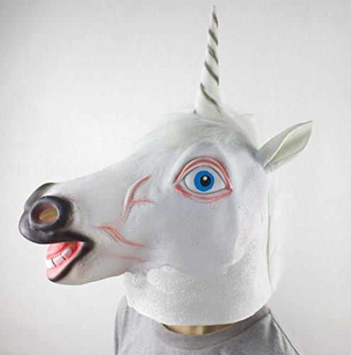 SHINE Máscara del Unicornio, Traje del Cabeza de Animal