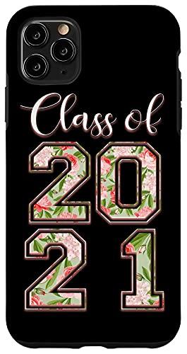 iPhone 11 Pro Max High School Class Of 2021 Floral Tee Senior Graduate Case