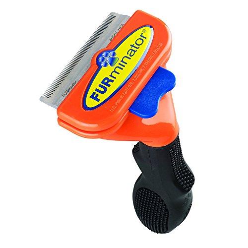 FURminator - Herramienta deShedding (tamaño M) Cepillo anticaída del pelo para mascotas - naranja