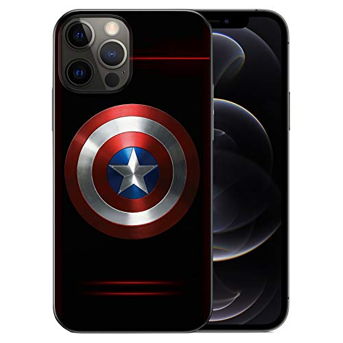 WZFT Slim Fit Case Compatible with iPhone 12 and iPhone 12 Pro 6.1 inch (2020), Comics TPU Full Body Protection Shockproof Cover (Captain-America)