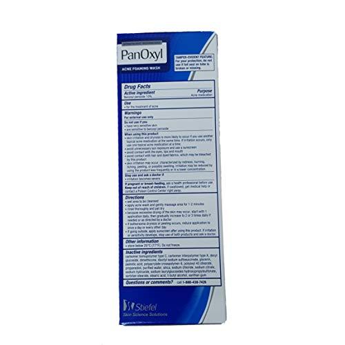 PanOxyl Acne Foaming Wash 10% Benzoyl Peroxide 5.5 oz (156 g)