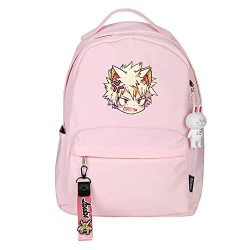 My Hero Academia bakugou Katsuki Backpack School Casual Daypack Rucksack Business College Travel-D,Colour Name:E qingqiao (Color : B)