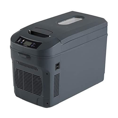 ICEBERG 車載冷蔵庫 22L ポータブル冷蔵庫 保冷 保温 0℃ 冷却 65℃ 加熱 チャコール AQ22L-CH