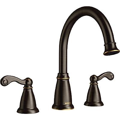 Moen T624BRB Traditional Mediterranean bronze two-handle roman tub faucet