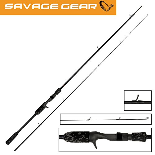 Savage Gear Black Savage Trigger 220cm 15-50g - Leichte Jerkbaitrute zum Jerkbaitangeln auf Hecht, Spinnrute Castingrute Angelrute