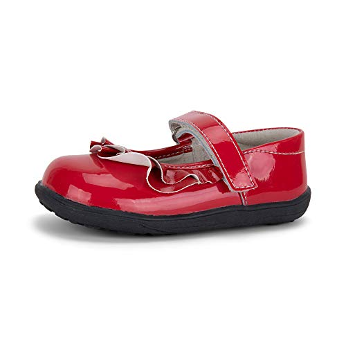 See Kai Run, Belle II Mary Jane Shoes for Kids, Red Patent, 12