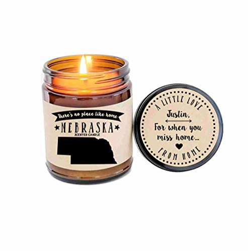 Nebraska Scented Candle State Candle Gift No Place Like Home Thinking of You Holiday Gift