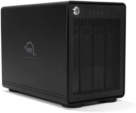 OWC 8.0TB 4-Drive HDD Storage Solution with Dual Thunderbolt 3 Ports