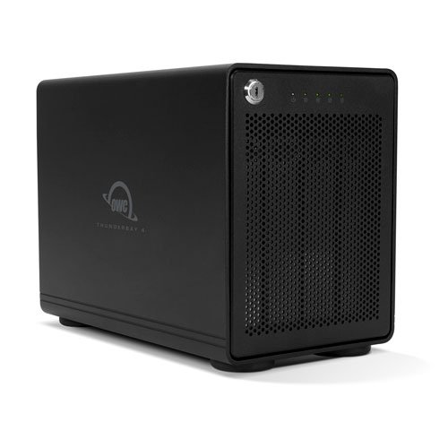 cheap OWC 4-bay storage enclosure with two Thunderbolt 3 ports