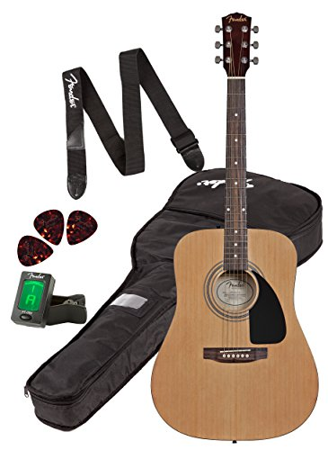 ebf65f870a Best buy Fender FA-100 Dreadnought Acoustic Guitar Pack with Gig Bag ...
