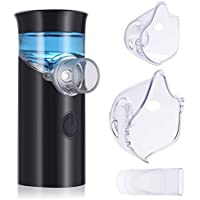 Mini Nebulizador Inhalador, PChero Handheld Personal Steam Vaporizer Humidificador Nebulizador Máquina con Cargador USB para Niños y Adultos [Negro]