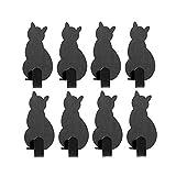 Gancho decorativo 8 unids en casa ganchos decorativos gato en forma de uñas ganchos gratis toalla adhesiva llave colgador capa pared ganchos montados en la pared gancho de decoración