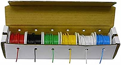 EX ELECTRONIX EXPRESS Solid Hook Up Wire Kit (Tinned Copper) 22 Gauge (6 Different Colored 25 Foot Spools Included)