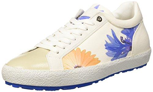 D'Acquasparta Damen Tessa Low-top, Elfenbein (Flower of White FOW), 36 EU