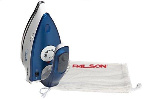 Palson 30810 Plancha de vapor para viaje, 1000 W, Azul y blanco