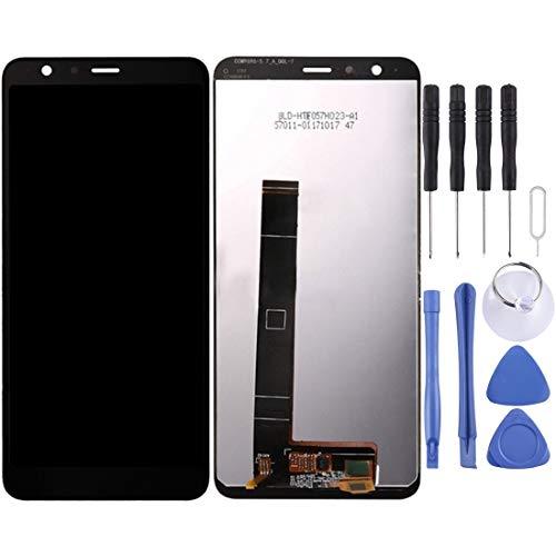Mingxian Pantalla LCD y digitalizador Asamblea Completa for ASUS Zenfone MAX Plus (M1) X018DC X018D ZB570TL (Color : White)