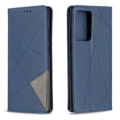 Hülle für Samsung Galaxy Note 20 Ultra Hülle Leder,[Kartenfach & Standfunktion] Flip Case Lederhülle Schutzhülle für Galaxy Note 20 Ultra - EYBF090268 Blau