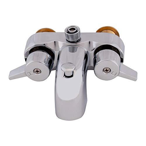 EZ-FLO 11129 Diverter Bathcock, Freestanding Bathtub Faucet Replacement, 3-3/8-inch Centers, 3/4-inch MIP Inlet, Chrome, 3/8-inch