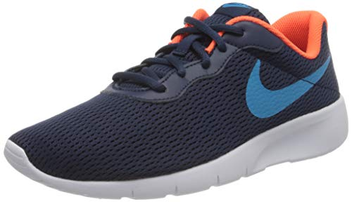 Nike Unisex-Child Tanjun (GS) Sneaker, Midnight Navy/Laser Blue-Hyper Crimson, 38.5 EU
