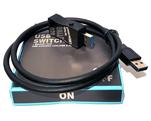USB SCHALTER AN/AUS USB 3.0 & 2.0 mit 80cm Verlängerungskabel // HmbG - 1402