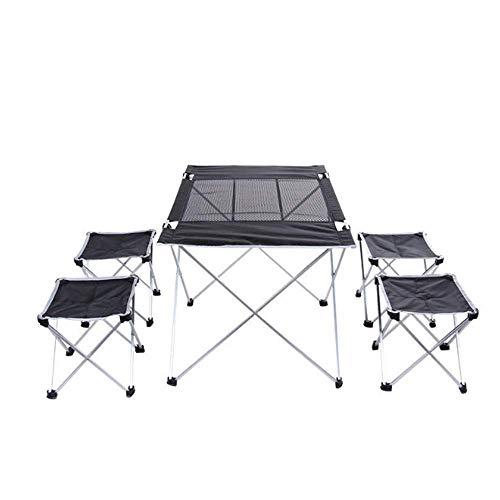N/Z Wohngeräte Stabiler Outdoor-Klapptisch Ultraleichter tragbarer Klapptisch mit Tragetasche Geeignet für Camping im Freien Wandern Picknick Indoor und Outdoor Multifunktion