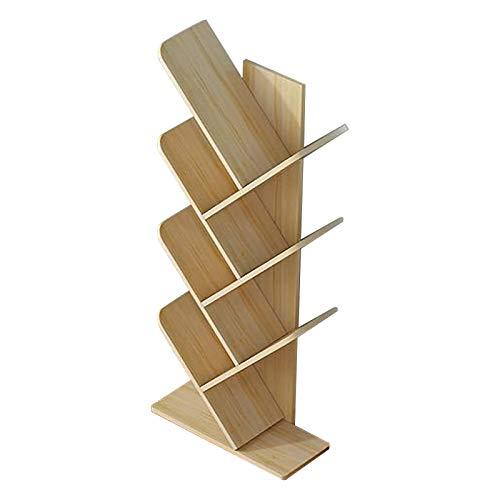 Estanteria Tree Wood Bookshelf, Piso De Pie Libro De Libros De Exhibición De Almacenamiento De Estante Para La Sala De Estar De La Oficina En El Hogar (5-7tier, Natural) Xuan - worth having