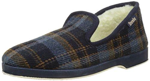 Victoria Confortable Cuadros H/Torcido, Zapatillas de Estar por casa Hombre, Bleu Marino, 44 EU