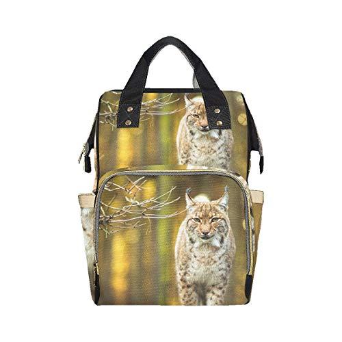 Eurasia Lynx Mochila duradera Bolsa de pañales Mamá Papá Cambio de gran capacidad Bolsa de pañales de viaje multifunción Mochila para bebé niña