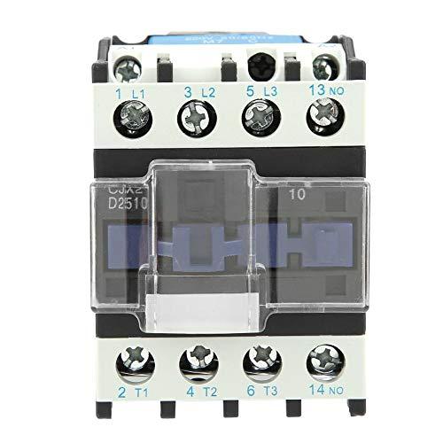 CJX2-2510 AC 220V 25A Contactor de Eléctrico, Motor Industrial Altamente Sensible, Interruptor de Circuito de Potencia, Montaje Fijo