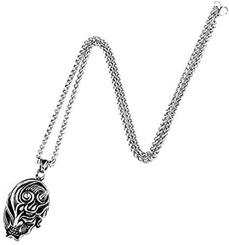 NC110 E-to-Match Skull Pendant Stainless Steel Punk Hip hop Rock Necklace Personality Fashion Wild Party Necklace YUAHJIGE