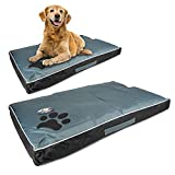 mypetsdirect.co.uk Easy to Clean Long Lasting <span class='highlight'>Medium</span> <span class='highlight'>Sized</span> <span class='highlight'>Dog</span> Pet Bed   85cm x 55cm x 8cm   Top of Bed is Waterproof   Cushioned with Carry Handle   Washable Cover   Grey