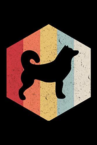 Siberian Husky Retro: A5 Liniertes Notizbuch auf 120 Seiten - Sibirischer Husky Notizheft | Geschenkidee für Hundebesitzer, Hunde Liebhaber, Coach und HundeTrainer