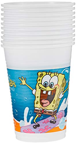 Nickelodeon 200 ML Gobelets en Plastique Bob l'éponge, Lot de 10