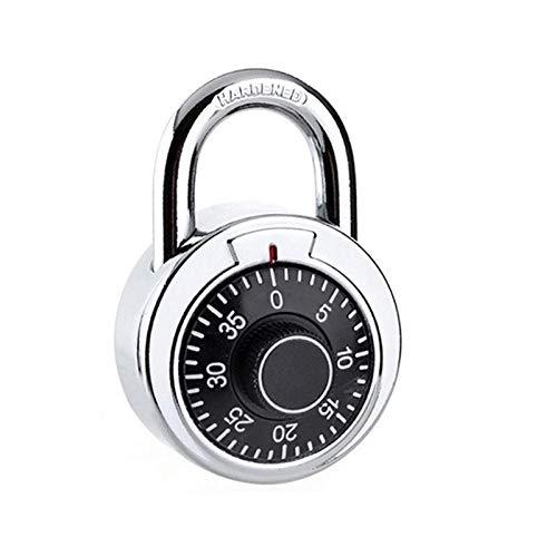 LZWOZ Cijferige Combinatie Code Rotary hangslot ound Dial Number Bagage Koffer Veiligheid Locker Koffer ladekast Swing Lock