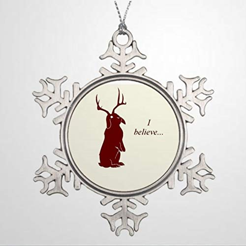 BYRON HOYLE Ornaments Xmas Tree Decorations Jackalope Believe Personalized Snowflak Christmas Snowflake Ornaments Xmas Decor Wedding Ornament Holiday Present