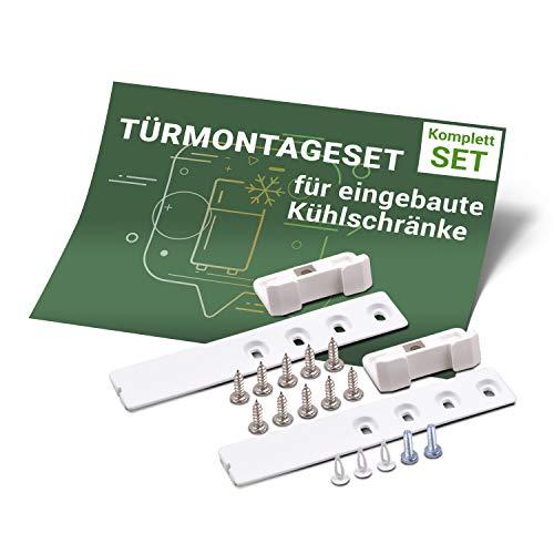 Türmontage-Set Ersatz für Liebherr 9086322 Scharnier Schleppscharnier Schiene Schlepptürscharnier für Kühlschrank Gefrierschrank