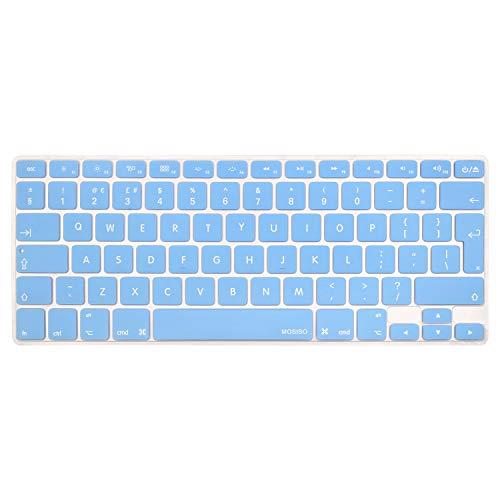 MOSISO Copertura Tastiera Compatibile con MacBook PRO 13 Pollic/15 Pollici(con/out Display Retina,2015/Versione Precedente), 2010-2017 MacBook Air 13 Pollici(A1369/A1466),BluAiry
