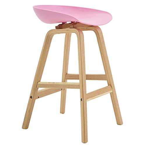 Barkruk van massief hout met armleuningen, moderne en minimalistische eetkamerstoel, barkruk in landelijke stijl Powder