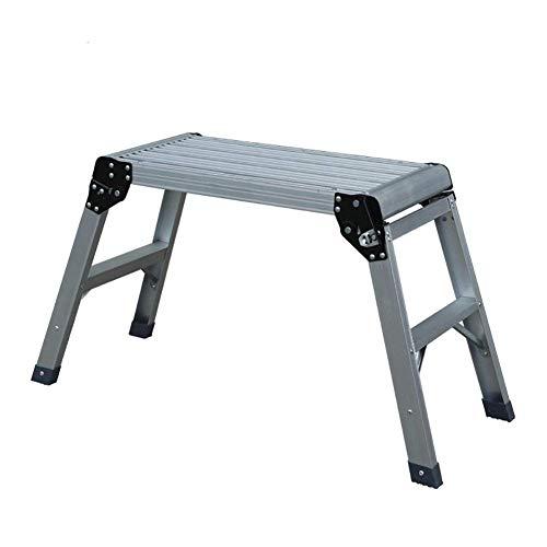 GAXQFEI Stailación Escalera Soporte de aluminio plegable de dos pasos Adecuado para fotografía multifunción Multi-Función Doble plegable alto Taburete gris escalera de taburete