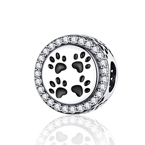 Pandora 925 Jewelry Bracelet Natural Codemonkey Real Sterling Silver Mark Of Pets Charm Fit Original Bangle For Cmc Women Diy Gift