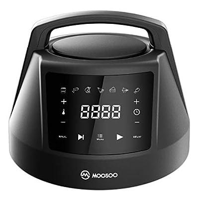 MOOSOO 6 QT Air Fryer Lid for Instant Pot with ...