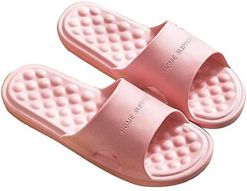ZSW Sandalias de Playa para Mujer Zapatillas de Masaje de Interior Zapatillas Planas Antideslizantes Zapatillas de casa Chanclas de baño para niñas (Tamaño: 39-40)-39-40
