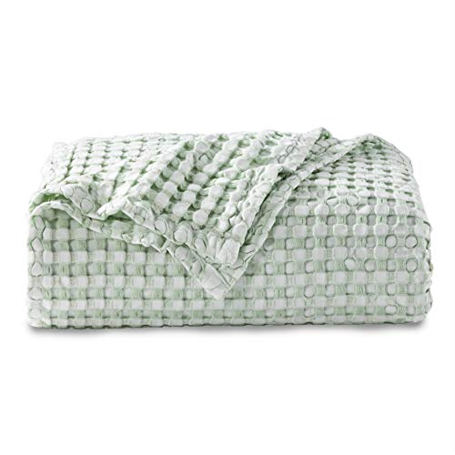 Bedsure 50% Cotton 50% Bamboo Blanket, Waffle...