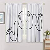 Decor Living Room Curtains 2 Panel Sets Humor Whatever Guy Meme Confusion Gesture Label Creative Drawing Rage Makers Design Patio Door Curtains Living Room Decor W42 x L63 Inch Black and White